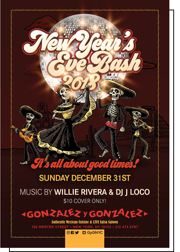 Photo of Gonzalez y Gonzalez New Year's Eve Bash 2018