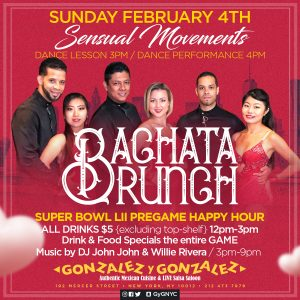 Photo of Gonzalez y Gonzalez Event Bachata Brunch happening on February 4, 2018