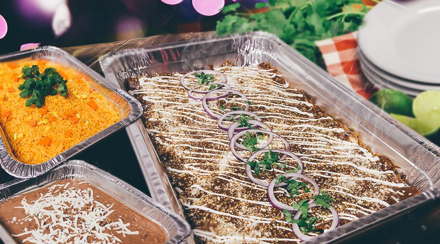 Photo of Enchilada Suizas catering tray